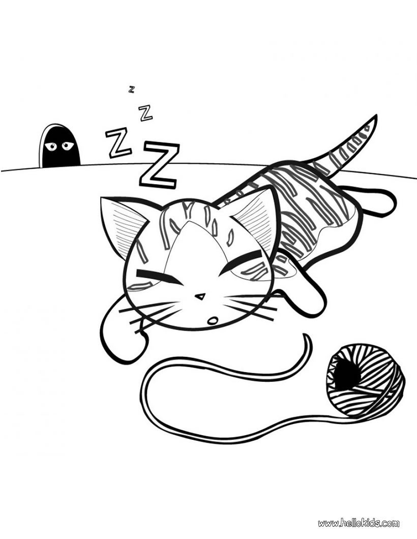 Cute Cat Coloring Pages Cat Coloring Pages 45 Free Pets And Animals Coloring Pages