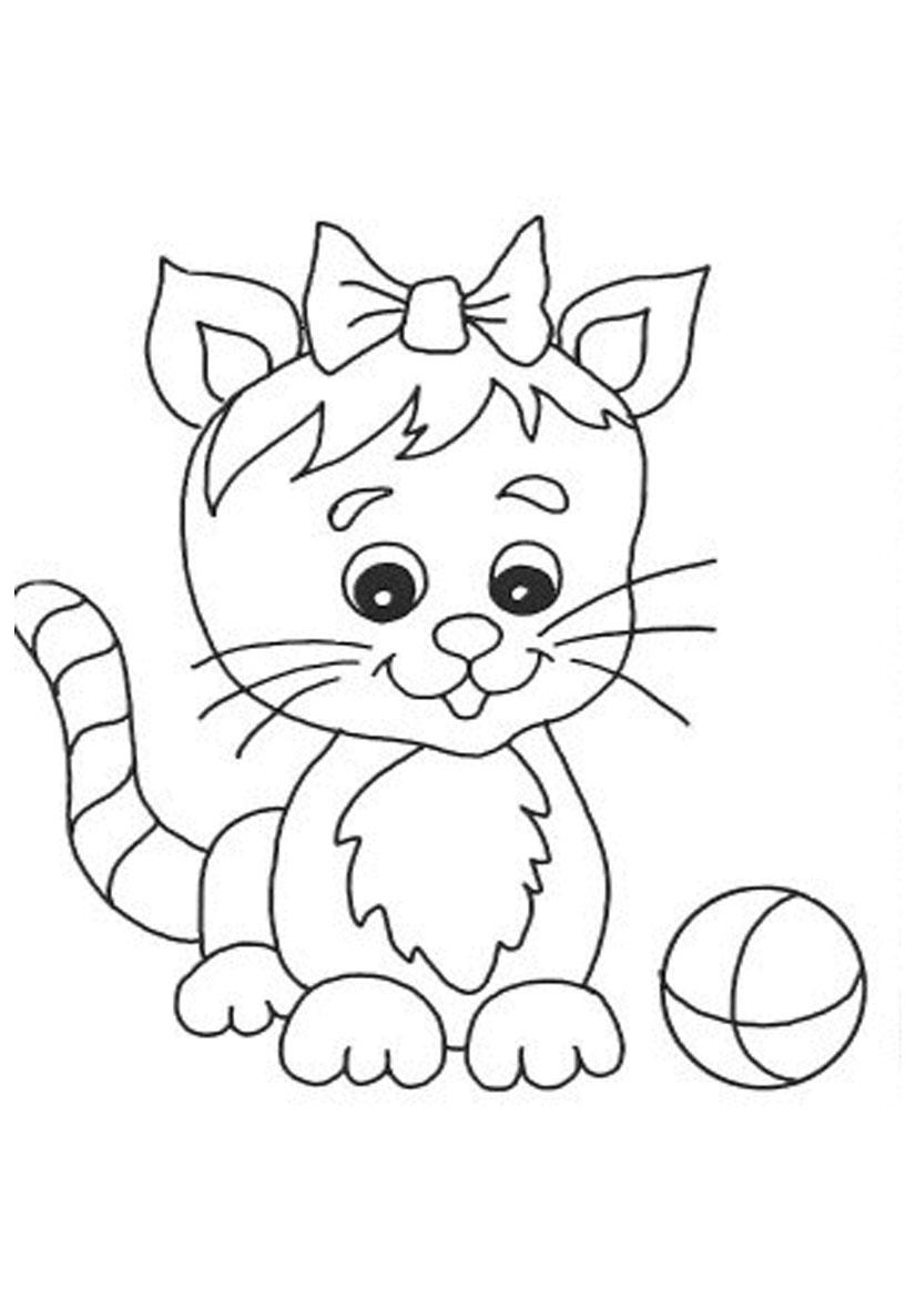 Cute Cat Coloring Pages Cute Cat Coloring Pages Printable 1774 Cute Cat Coloring Pages
