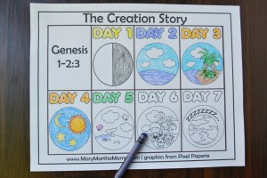 Days Of Creation Coloring Pages Creation Coloring Pages Help Kids Learn The Story Mary Martha Mama