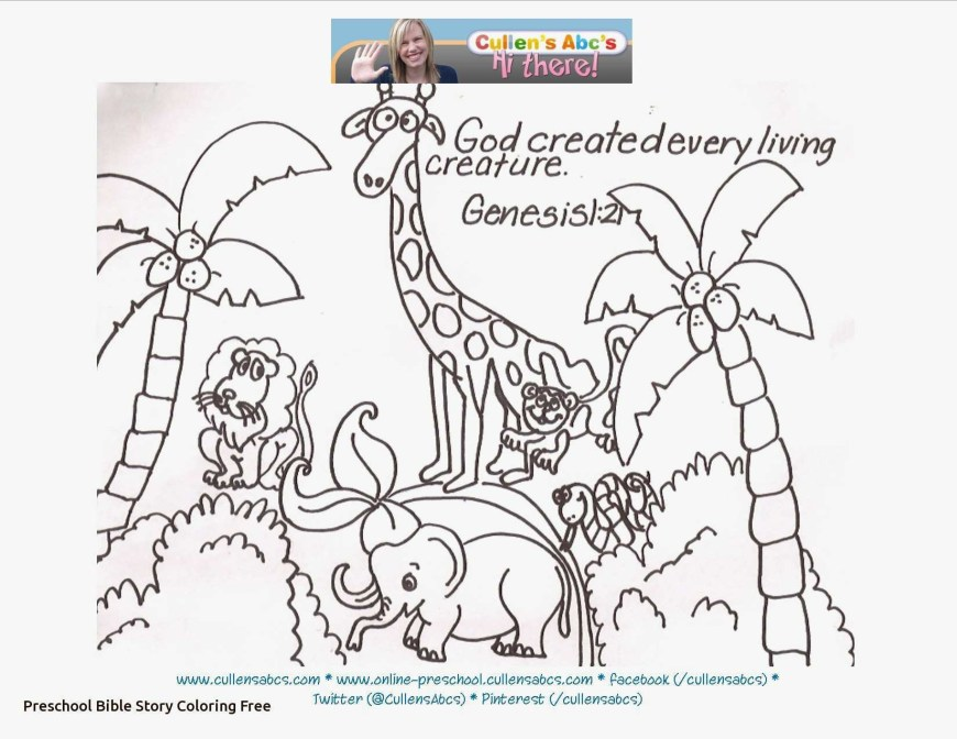 Days Of Creation Coloring Pages Days Of Creation Coloring Pages Free Luxury God Created The Animals