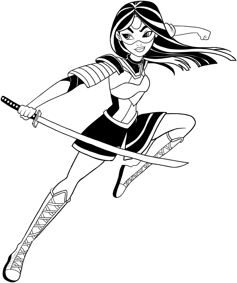 Dc Superhero Girls Coloring Pages Coloring Pages Coloring Pages Katana Superheros Page Marvelous