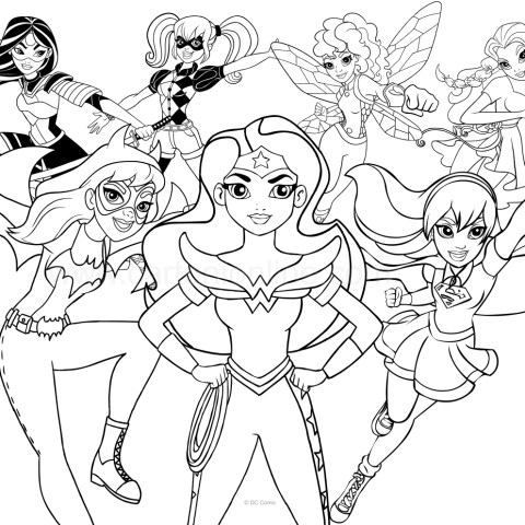 Dc Superhero Girls Coloring Pages Dc Superhero Girls Coloring Page