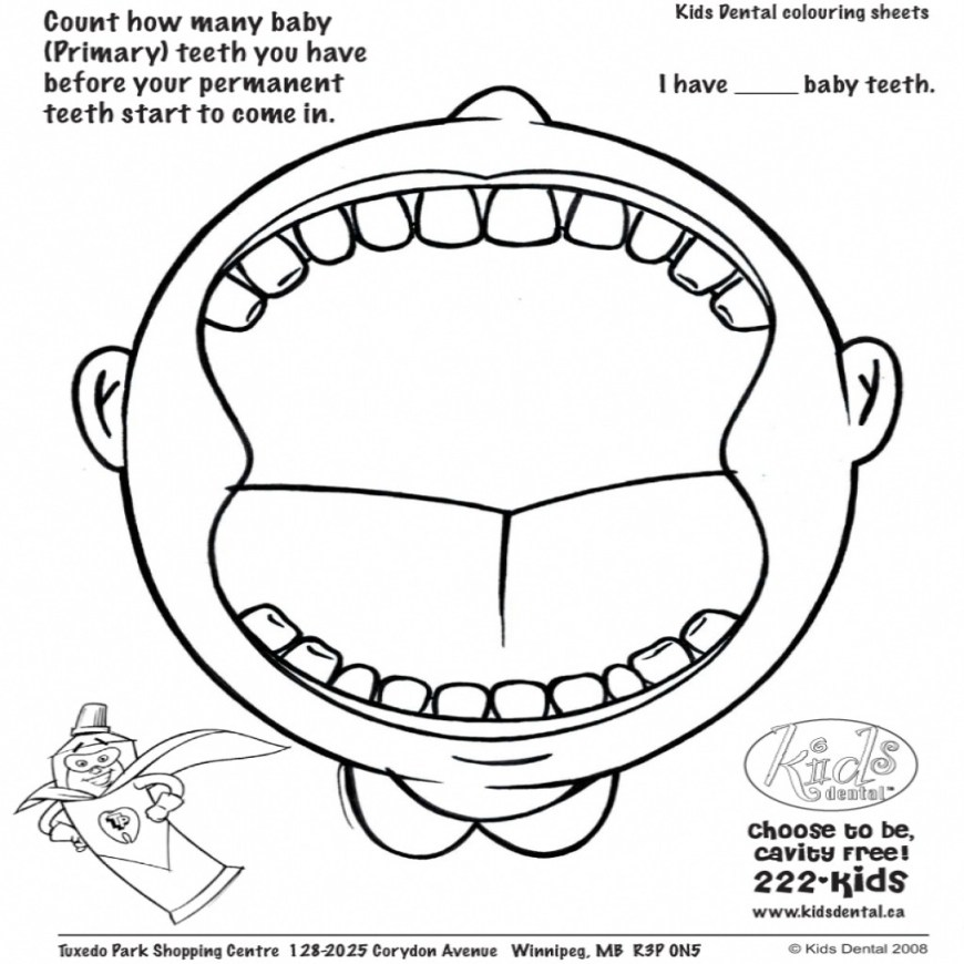 Dental Coloring Pages Dental Coloring Pages For Kids Printable Coloring Page For Kids