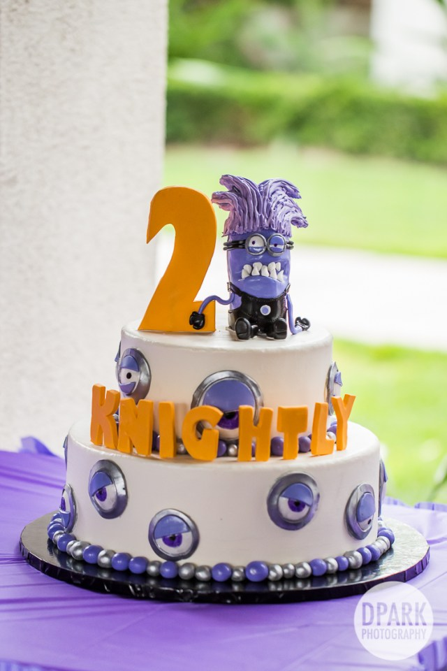 Despicable Me Birthday Cake Anaheim Despicable Me Purple Minion 2nd Birthday Party Celebrity