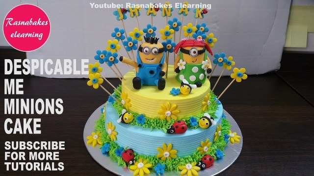 Despicable Me Birthday Cake Despicable Me 3minionsbirthday Cake Youtube