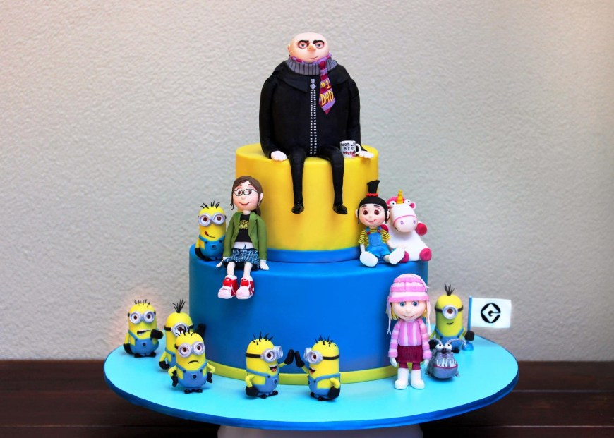 Despicable Me Birthday Cake Despicable Me Birthday Cake Decorations Protoblogr Design
