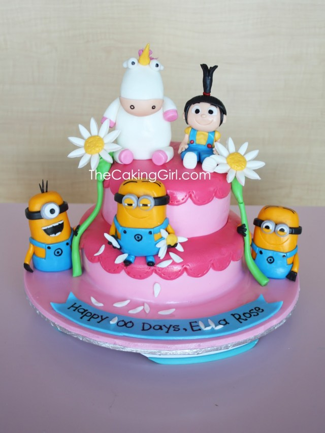 Despicable Me Birthday Cake Thecakinggirl Cute Despicable Me Cake
