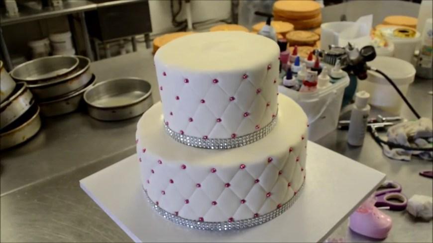 Diamond Birthday Cake Birthday Cake Decorating Diamond Patterns Youtube