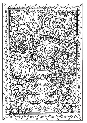Difficult Coloring Pages Flower Difficult Flowers Adult Coloring Pages