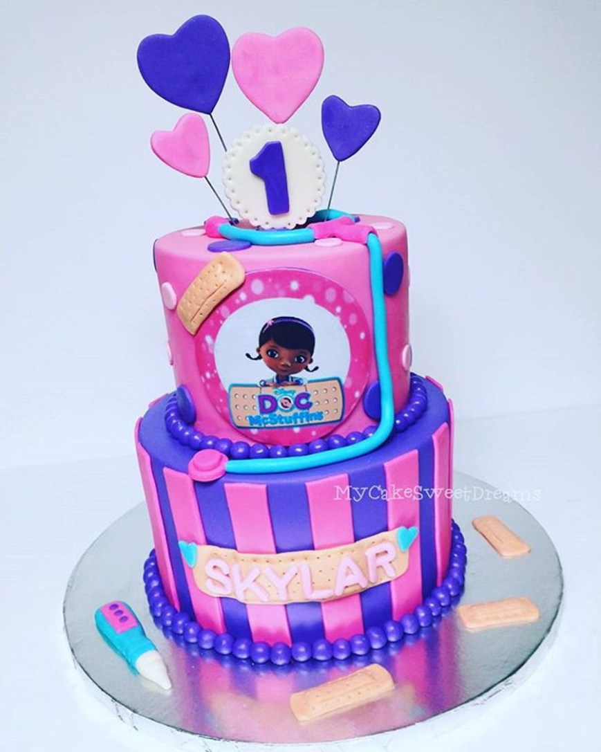 Doc Mcstuffin Birthday Cakes Doc Mcstuffins 1st Birthday Cake Cakecentral