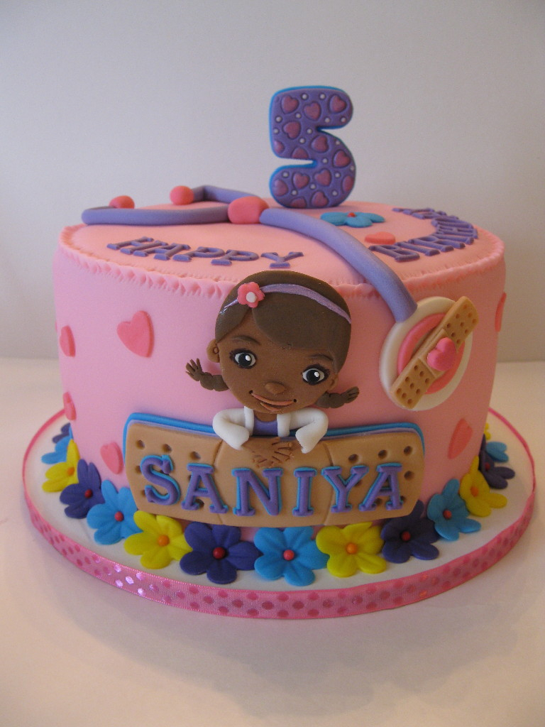 Doc Mcstuffin Birthday Cakes Saniyas Doc Mcstuffins Birthday