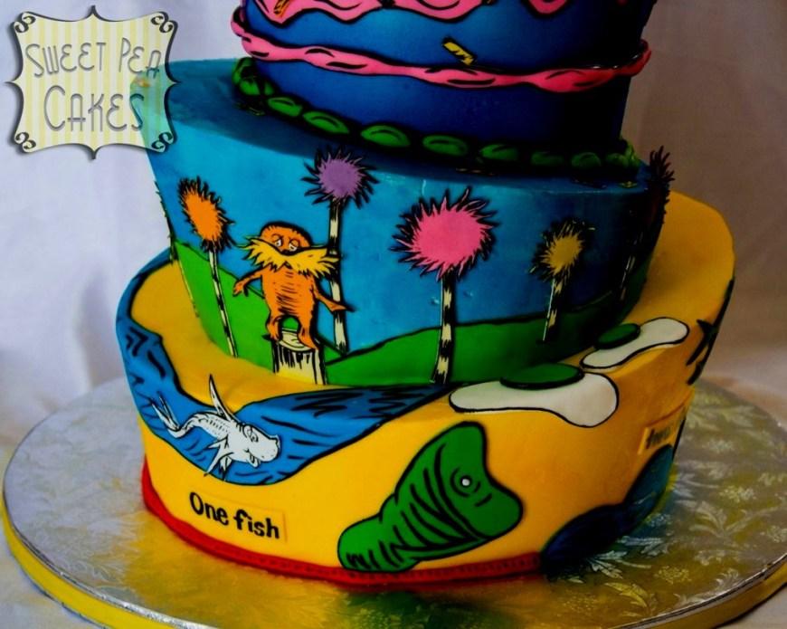 Dr Seuss Birthday Cake Dr Seuss Birthday Cakes First Cake Cf
