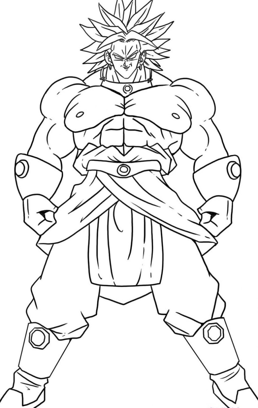 Dragon Ball Super Coloring Pages Broly Super Saiyajin Dragon Ball Z Kids Coloring Pages