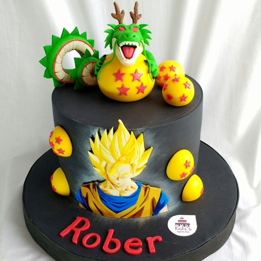Dragon Ball Z Birthday Cake Dragn Ball Cake Visit Now For 3d Dragon Ball Z Compression Shirts