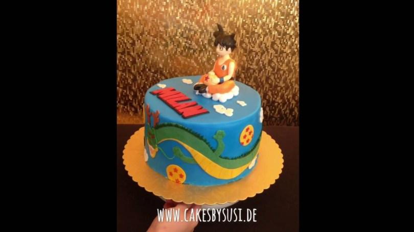 Dragon Ball Z Birthday Cake Dragon Ball Anime Inspired Cake With Son Goku Shenlong Youtube