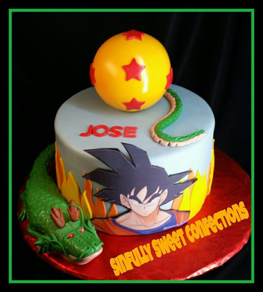 Dragon Ball Z Birthday Cake Dragon Ball Z Birthday Cake Sinfully Sweet Confections Pinterest