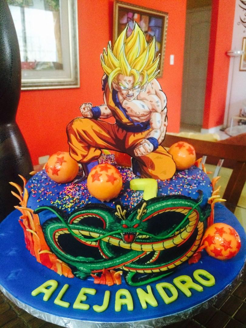 Dragon Ball Z Birthday Cake Dragon Ball Z Cake Cakes De Fondant Pinterest