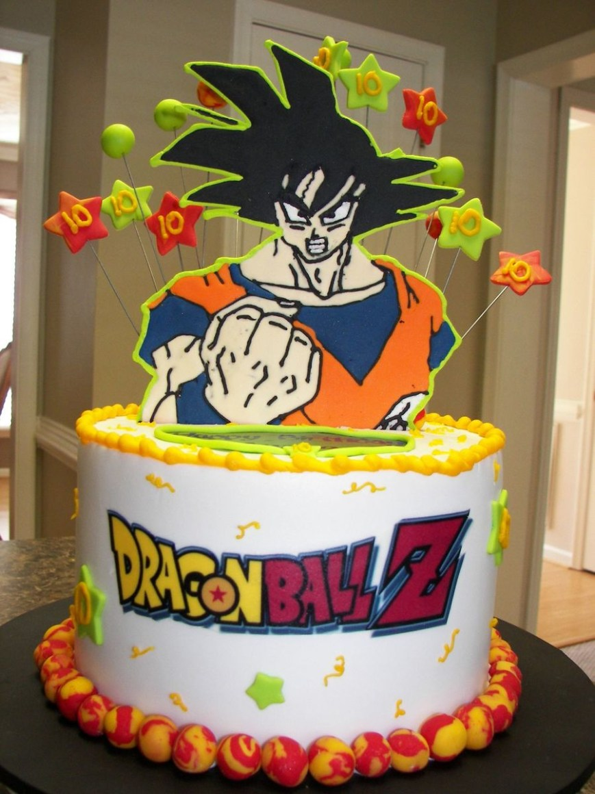 Dragon Ball Z Birthday Cake Dragon Ballz Goku Cakecentral