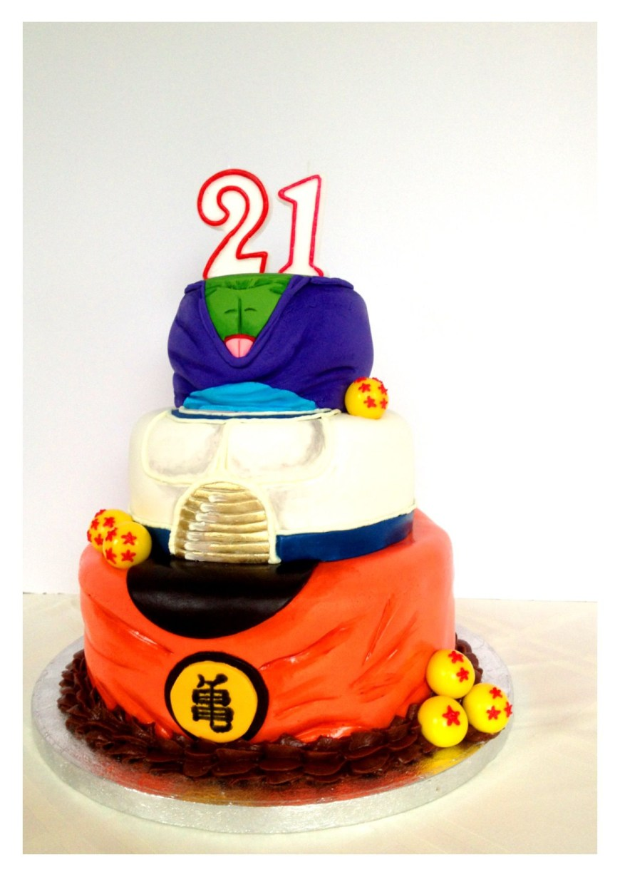 Dragon Ball Z Birthday Cake Dragonball Z Cake I Made For A Friends Birthday Tomas