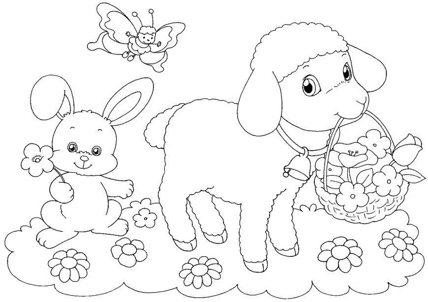 Easter Basket Coloring Pages Easter Basket Coloring Pages Best Coloring Pages For Kids