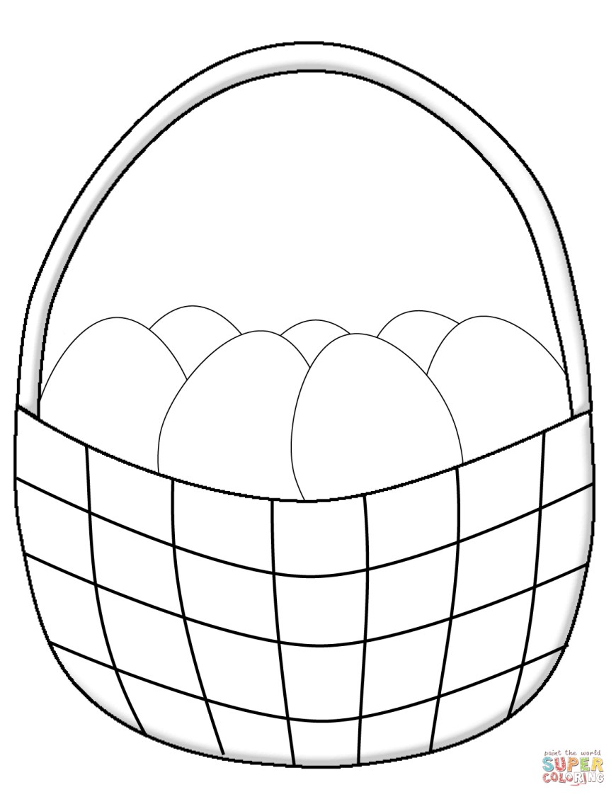 Easter Basket Coloring Pages Easter Basket Coloring Pages Free Printable Pictures