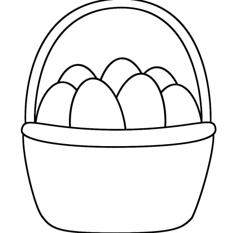 Easter Basket Coloring Pages Easter Basket With Eggs Coloring Page Easter