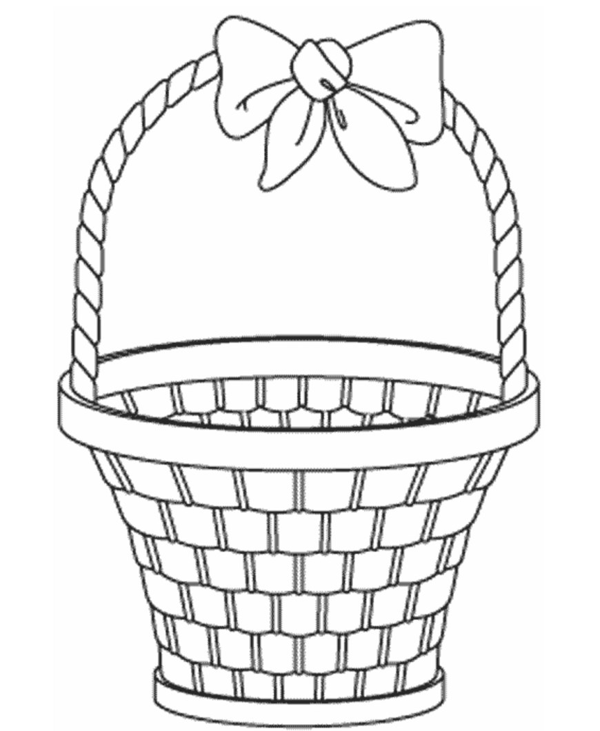 Easter Basket Coloring Pages Empty Easter Basket Coloring Page Book For Kids