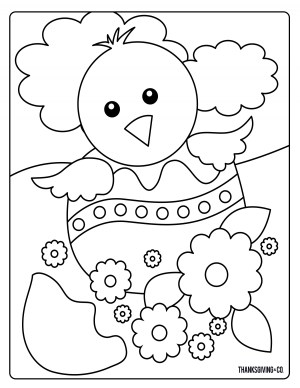 Easter Coloring Pages For Kids Sweet And Sunny Spring Easter Coloring Pages Thanksgiving
