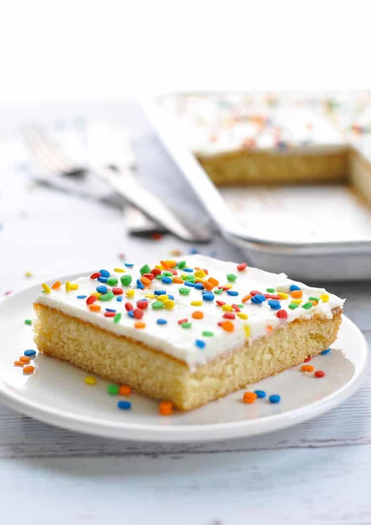 Easy Birthday Cake Recipes Chi Chis Famous White Texas Sheet Cake The Seasoned Mom