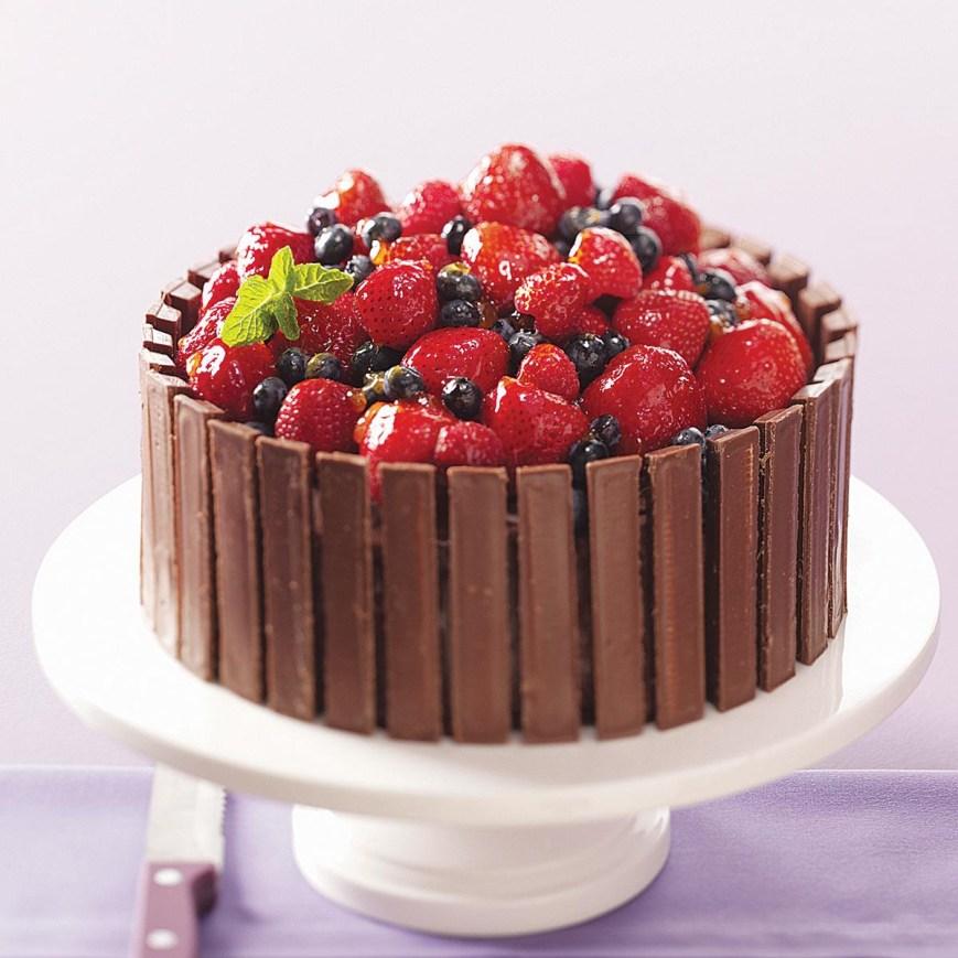 Easy Birthday Cake Recipes Chocolate Fruit Basket Cake Recipe Taste Of Home