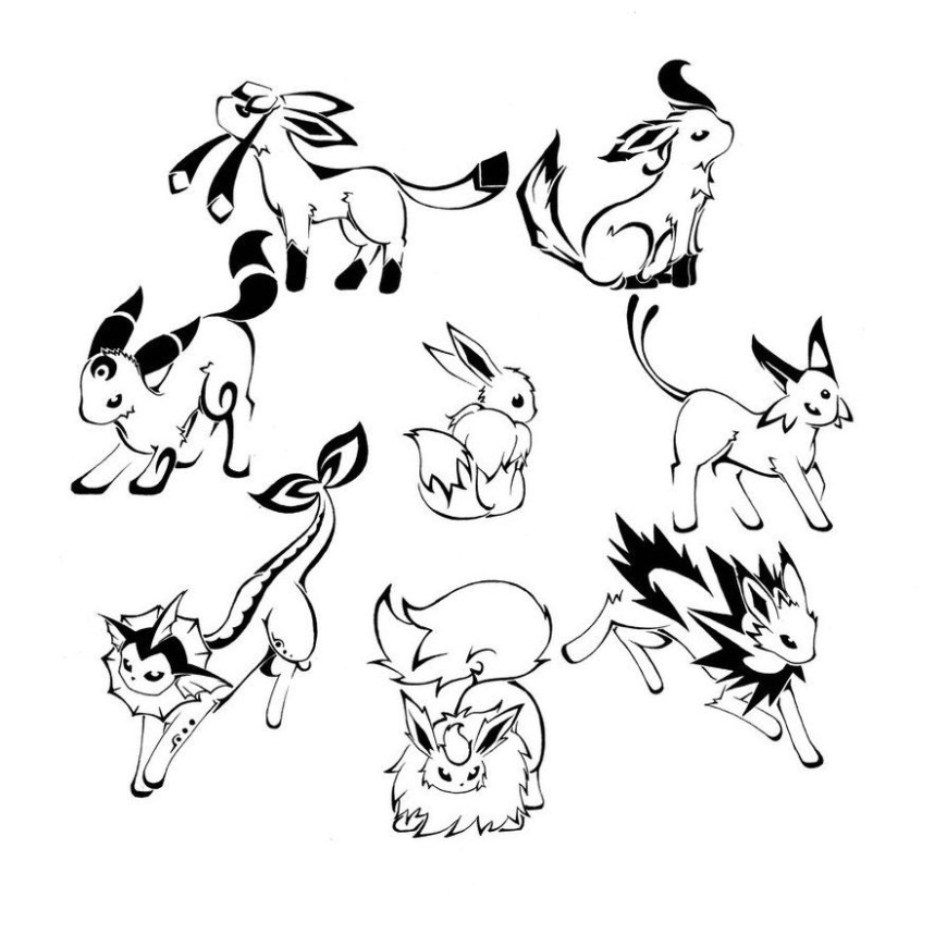 Eevee Evolutions Coloring Pages Coloring Pages Eeveetions Coloring Pages Pokemon All Leafeon