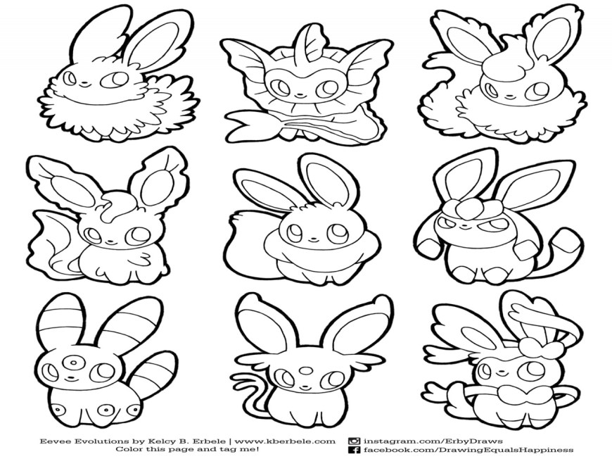 Eevee Evolutions Coloring Pages Eeveelutions Coloring Pages At Getdrawings Free For Personal