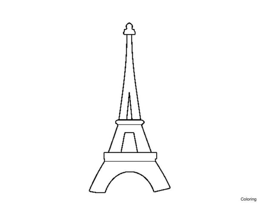 Eiffel Tower Coloring Page Eiffel Tower Bilder Archives Thestudentsmag Thestudentsmag