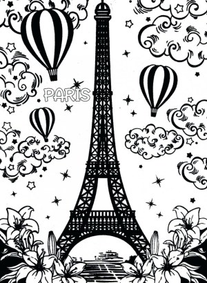 Eiffel Tower Coloring Page Eiffel Tower Coloring Page For Adults Colouring Paris Pages Outline
