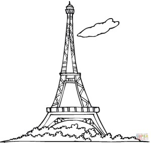 Eiffel Tower Coloring Page Eiffel Tower Coloring Page Free Printable Coloring Pages