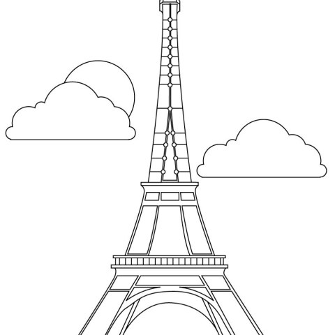 Eiffel Tower Coloring Page Eiffel Tower Coloring Pages Hellokids