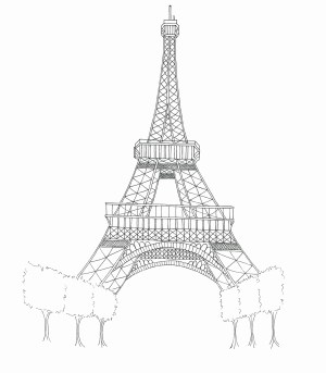 Eiffel Tower Coloring Page Eiffel Tower Coloring Pages Lezincnyc