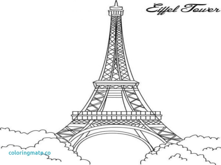 Eiffel Tower Coloring Page Eiffel Tower Colouring Page Outline Coloring Book Paris Pages