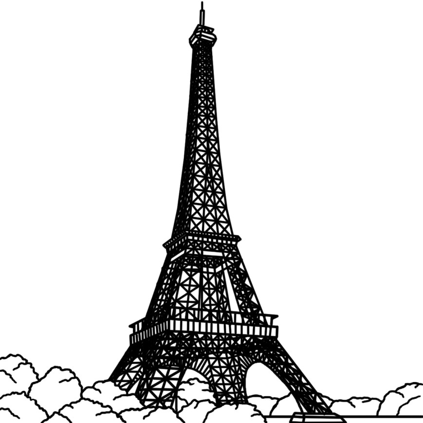Eiffel Tower Coloring Page Free Printable Eiffel Tower Coloring Pages For Kids