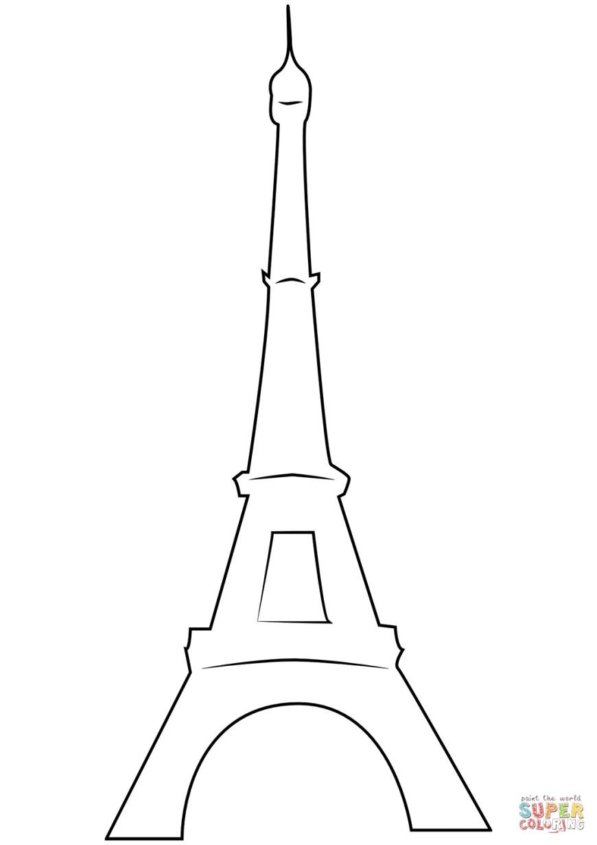 Eiffel Tower Coloring Page The Eiffel Tower Coloring Page Free Printable Coloring Pages
