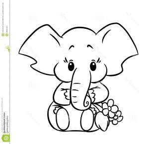 Elephant Coloring Pages Elephant Coloring Page Cute Pages 13451300 Attachment Lezincnyc