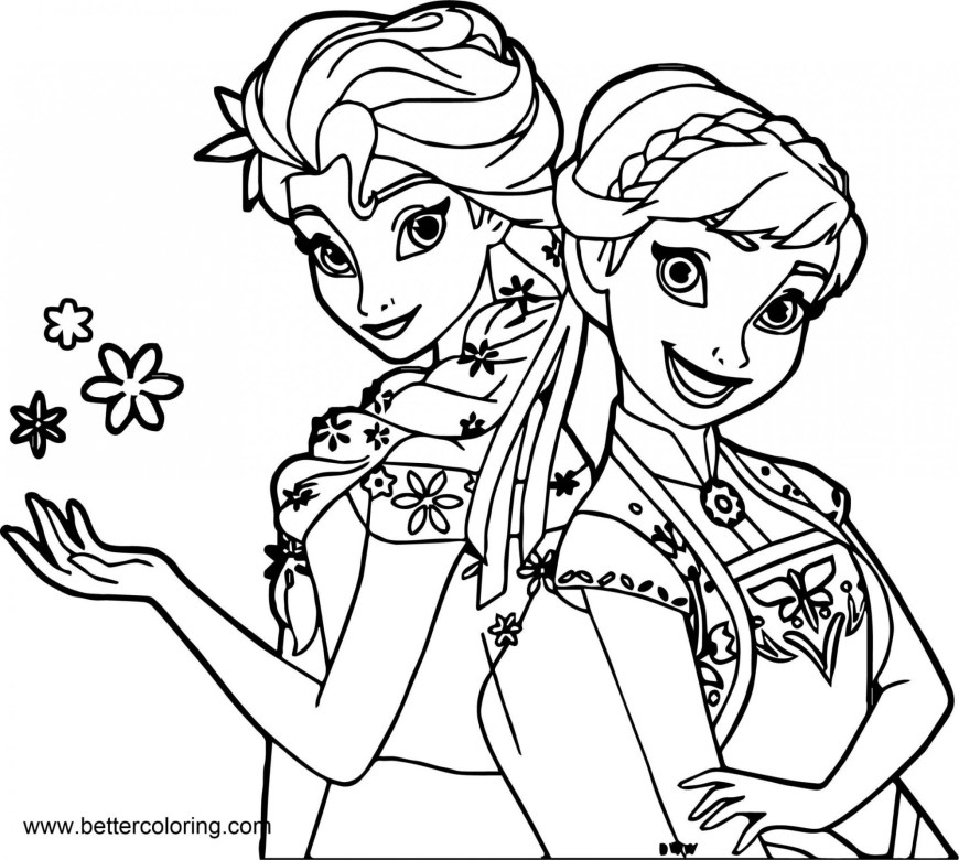 Elsa Anna Coloring Pages Coloring Pages 58 Elsa And Anna Coloring Pages Free Picture