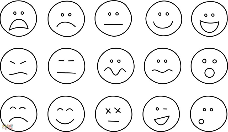 Emotions Coloring Pages Emotions Coloring Pages 7sl6 Emotions Coloring Pages With Wallpapers