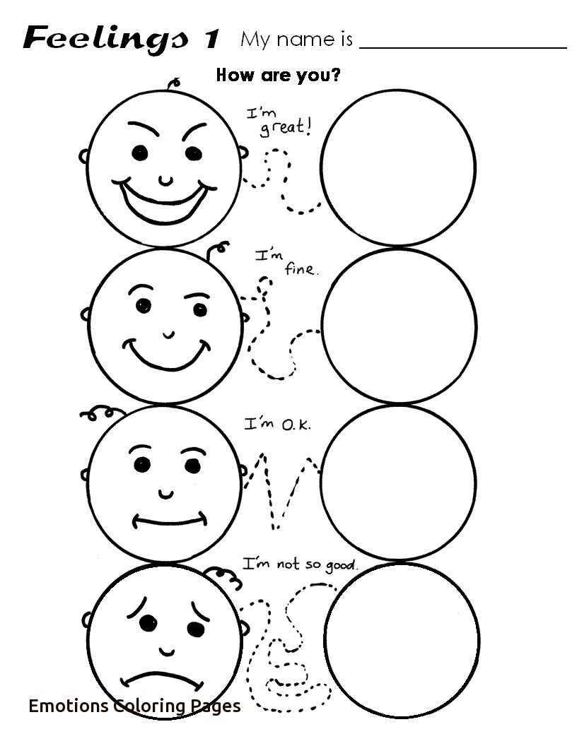 Emotions Coloring Pages Emotions Coloring Pages Babbleedition