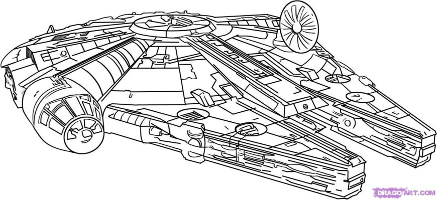 Falcon Coloring Pages 10 Star Wars Millennium Falcon Coloring Pages 5b28f66167543 To Page