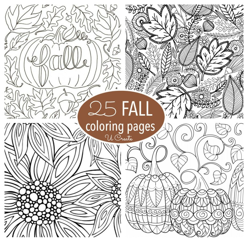 Fall Coloring Pages Free Fall Adult Coloring Pages U Create