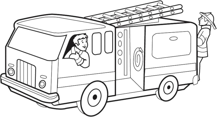 Fire Truck Coloring Page Coloring Pages Fire Truck With Fire Truck Coloring Pages New Best