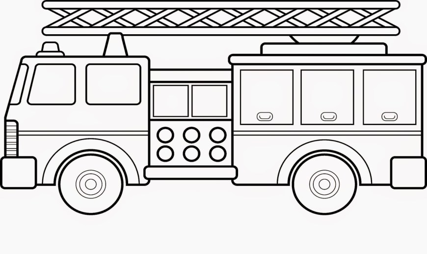 Fire Truck Coloring Page Fire Truck Coloring Pages Free Engine Colouring Page For