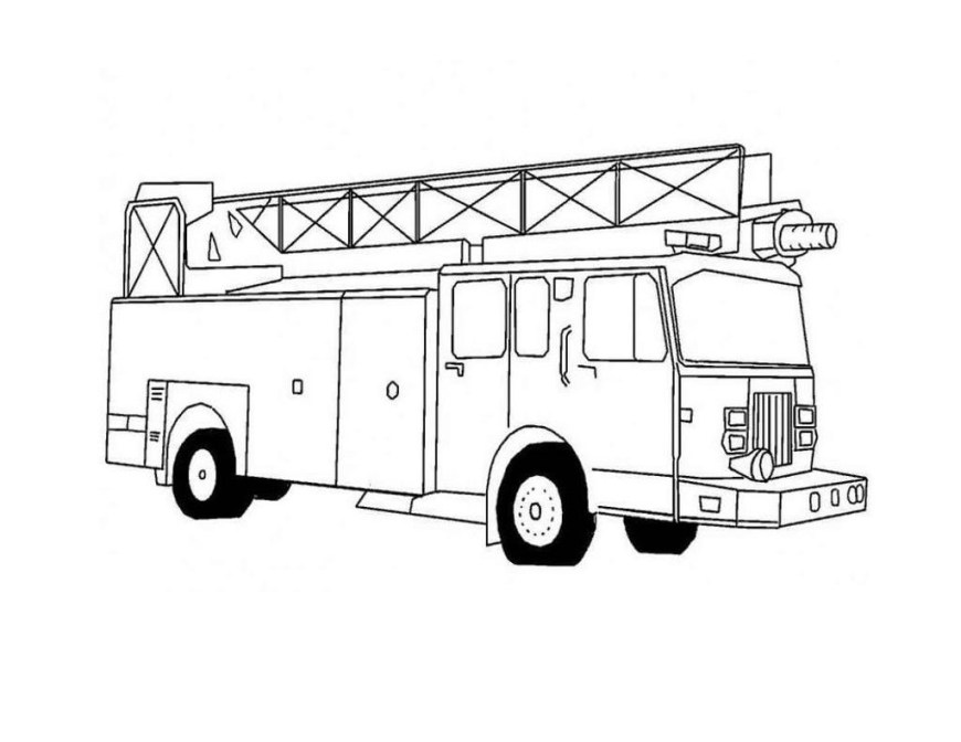 Fire Truck Coloring Page Fire Truck Coloring Pages Kids Clipart Coloring Page 4 Kids