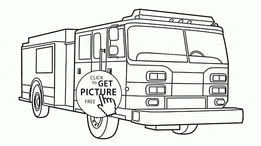 Fire Truck Coloring Page Free Printable Fire Truck Coloring Pages Glandigoart